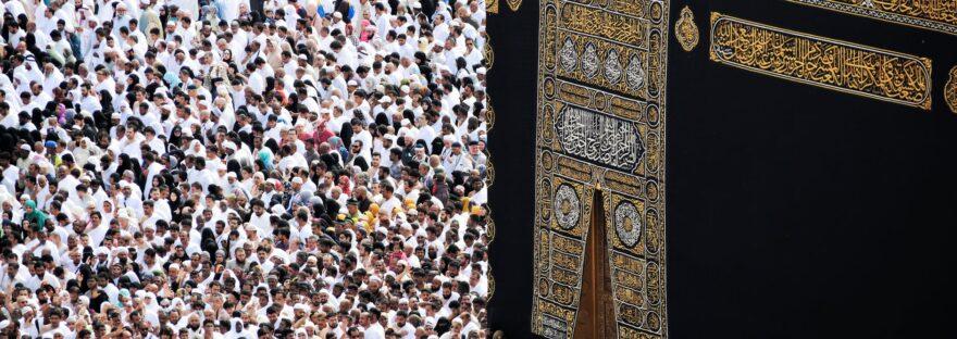 people gathering near kaaba mecca saudi arabia
