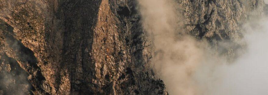 bird s eye view of rocky mountain during daytime