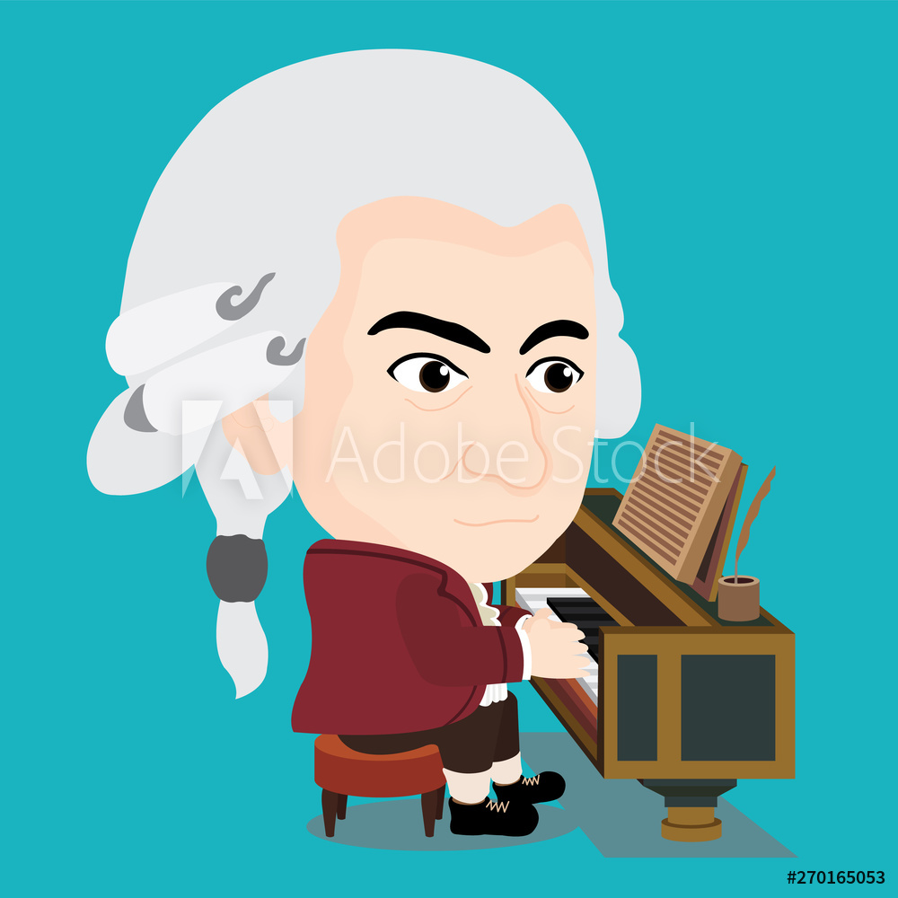 Wolfgang Amadeus Mozart playing Piano