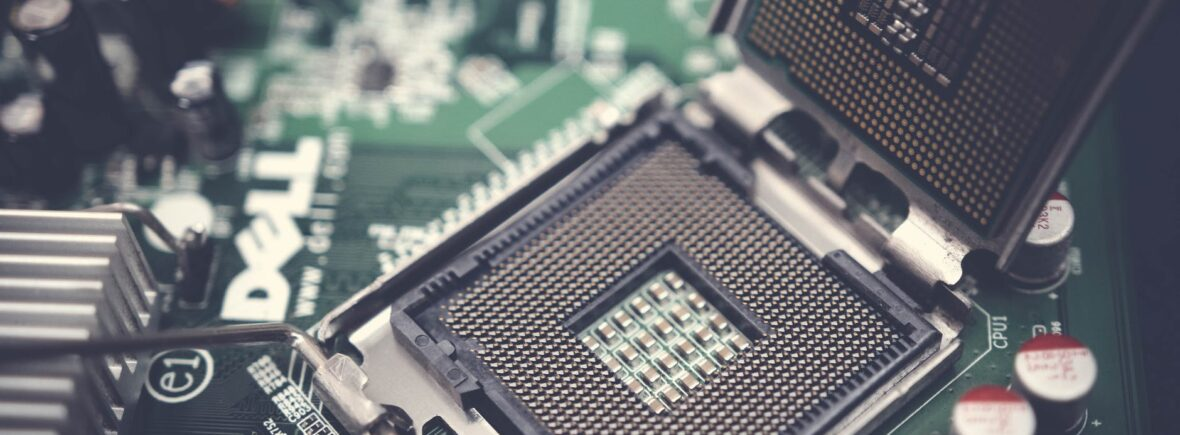 dell motherboard and central processing unit